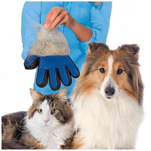 Перчатка для вычесывания шерсти домашних животных «True Touch»