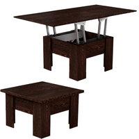 Стол трансформер обеденный раздвижной для гостиной черный