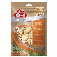 Косточки для мелких собак 8IN1 Delights XS 21х7,5 см (21 шт. в пакете), с куриным мясом