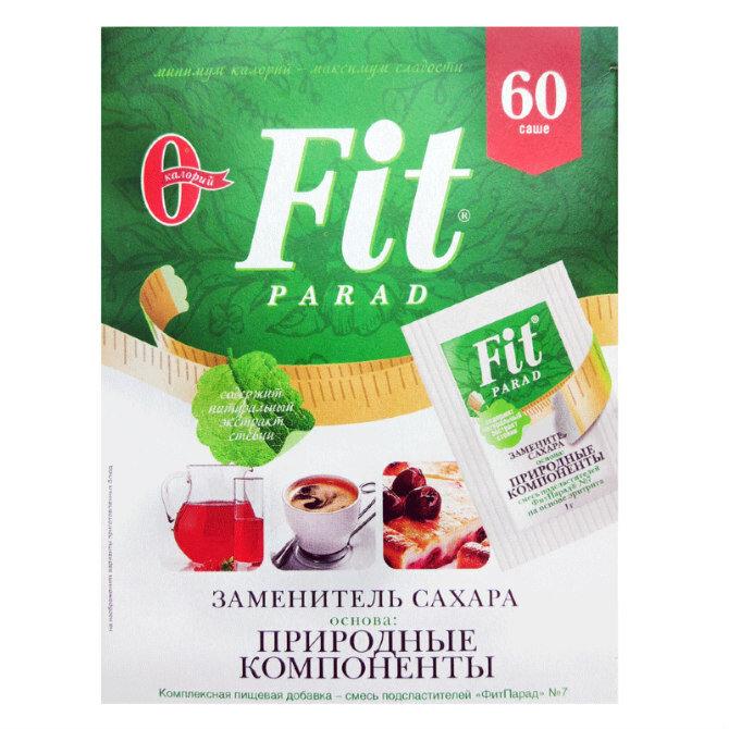 Заменитель сахара ФитПарад 7 на основе эритритола саше, 60 шт.