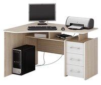 Компьютерный стол МФ Мастер Триан-5 Светлое дерево, Правый