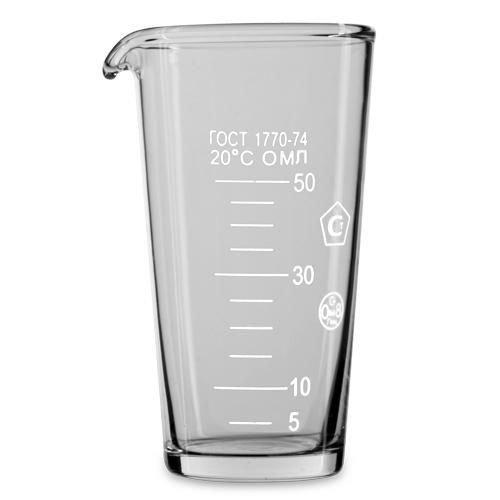 Мерный стакан 50 мл. в индивид. упак. ГОСТ 1770-74 /1//9/, MAG - 48833