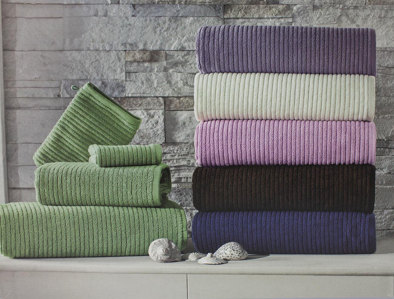 Комплект махровых полотенец (30x50, 50x100, 80x150) + варежка River Maison dor (синий), Комплект полотенец (3 шт)
