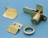 505-14N К/А Замок для двустворчатой дверцы, система одинаковые ключи, никель (G08517-120)