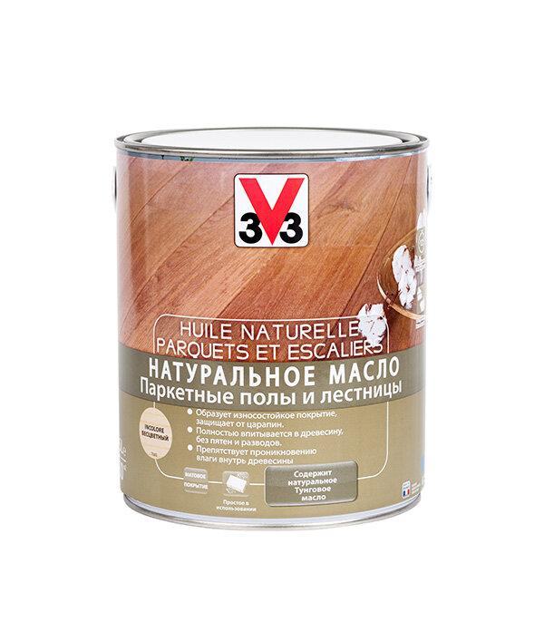 Масло натуральное для лестниц и паркета V33 бесцветное 2,5 л