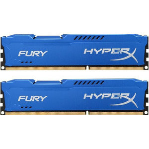 Модуль памяти DDR3 8GB (2*4GB) Kingston HX318C10FK2/8 HyperX FURY Blue PC3-14900 1866MHz CL10 1.5V Радиатор RTL