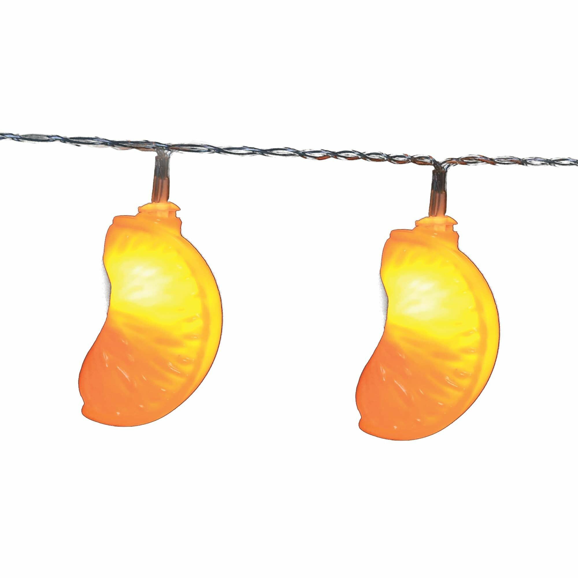 Uld-s0400-010/stb/2aa warm white ip20 orange гирлянда светодиодная с на батарейках 2aa (не в/к), «Апельсин», 4м. 10 светодиодов. Теплый белый свет. Провод прозрачный. TM Uniel.