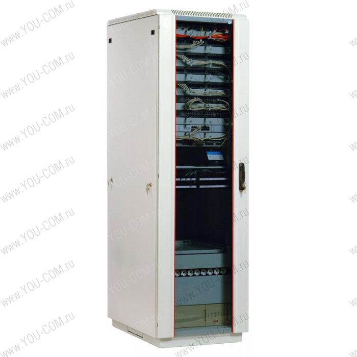 <b>Шкаф</b> <b>телекоммуникационный</b> <b>напольный</b> 33U (600x800) дверь стекло (3 места)