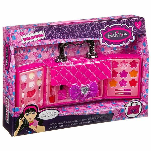 Детская декоративная косметика Bondibon ВВ3786 Eva Moda (с 3-уровневой раскладной сумочкой)