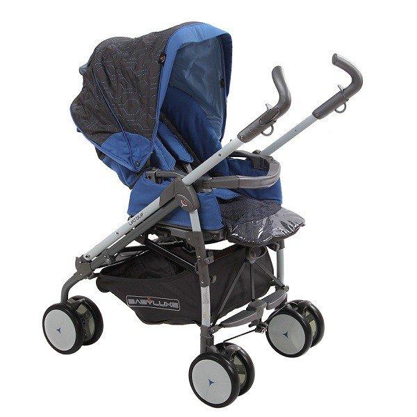 Коляска трость BabyLux Carita 205S (8 колес) (Цвет: LED BLUE/голубой)