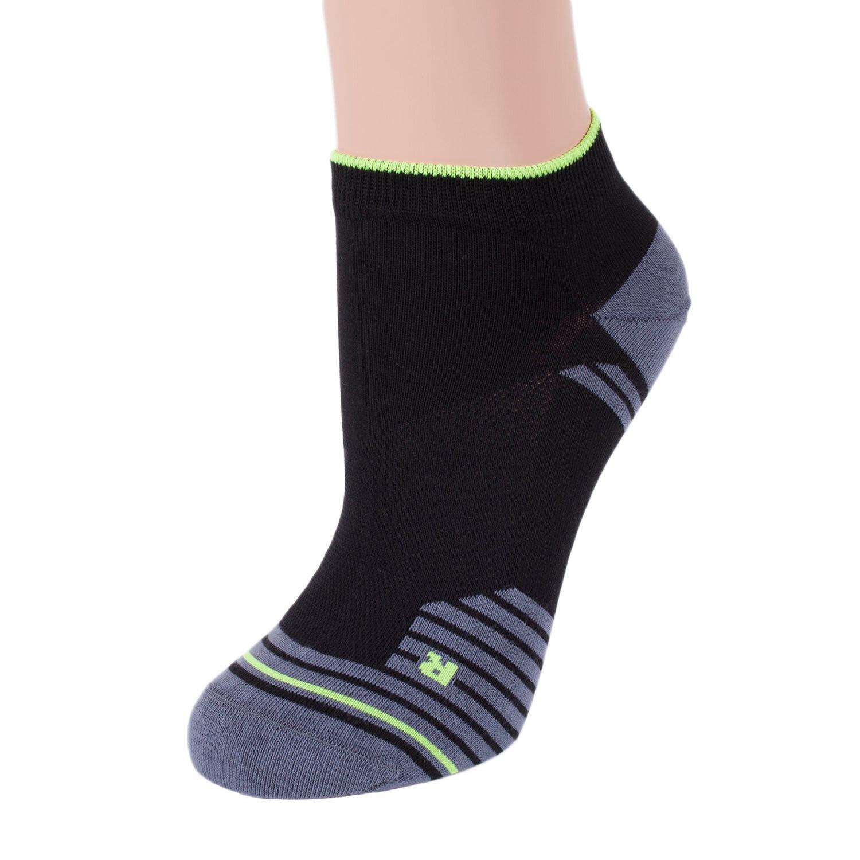 Спортивные женские носки rusocks черно-лимонные
