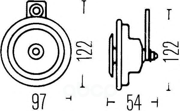 Звуковой Сигнал 12v HELLA арт. 3AL908571-031