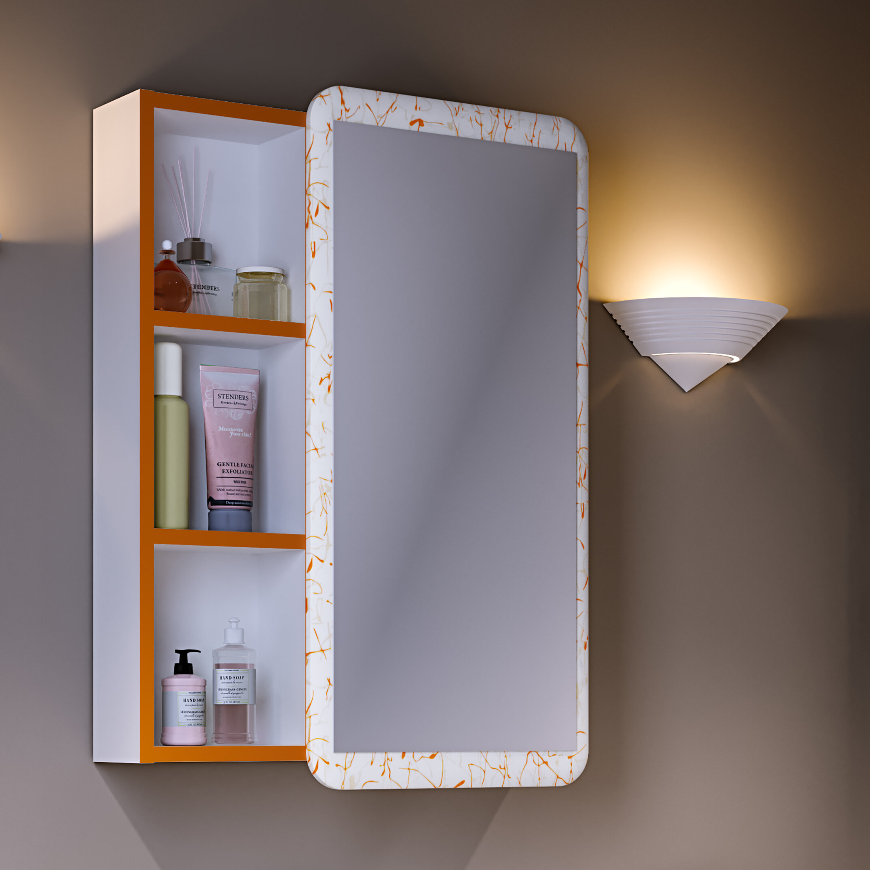 Зеркало-шкаф Runo Капри 55 оранжевое