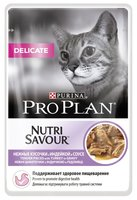 Purina Pro Plan (0.085 кг) NutriSavour Delicate feline with Ocean Fish in gravy