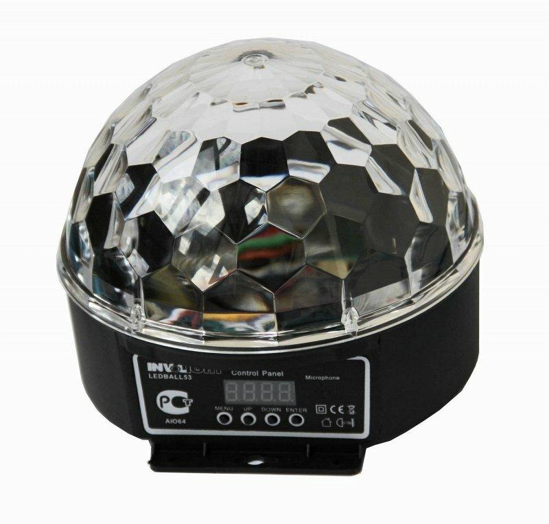 INVOLIGHT LEDBALL53 - LED световой эффект, 6 шт. RGB 3 Вт, DMX-512, звуковая активация