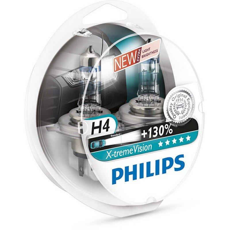 Лампа Philips 12342XV+S2 H4 12V- 60/55W (P43t) (+130% света) X-treme Vision (2шт.)