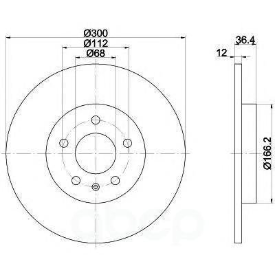 92160103_диск Тормозной Задний! Audi A4/A5 All 07 Textar арт. 92160103