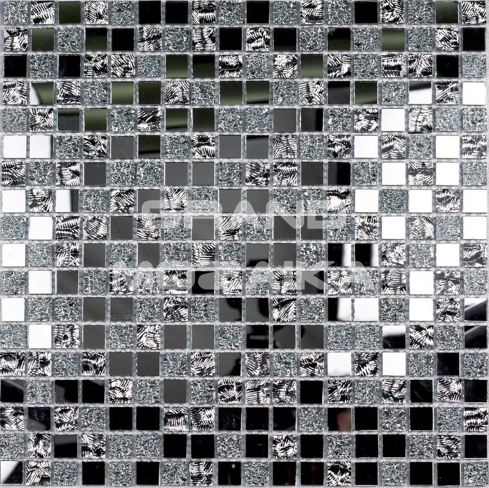 Зеркальная мозаика, серия Shik 32092. Цвет - серебряный, материал - Стекло, размер чипа: 15x15, размер листа: 300x300, цена за лист