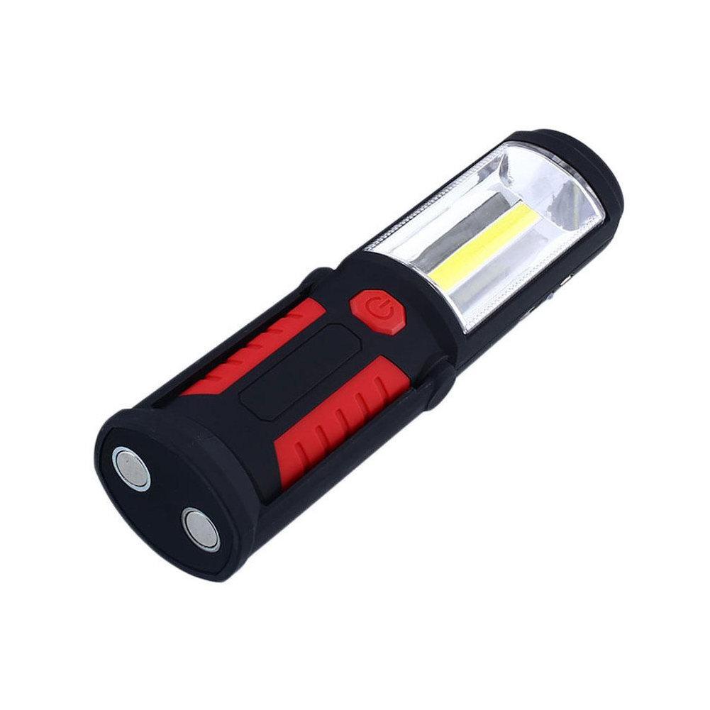 Фонарь - светильник светодиодный переносной с подвесом, магнитом для крепления, на батарейках, цвет красный