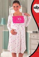 Рубашка для кормящих, беременных Т-31533 Sabrina (кремовый-розовый), 50