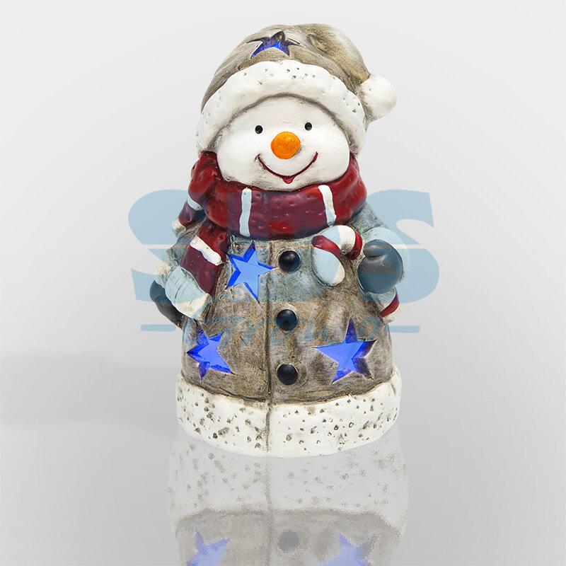 Neon-Night Керамическая фигурка Снеговичок в шарфе 7,5*6,5*12 см, 6шт