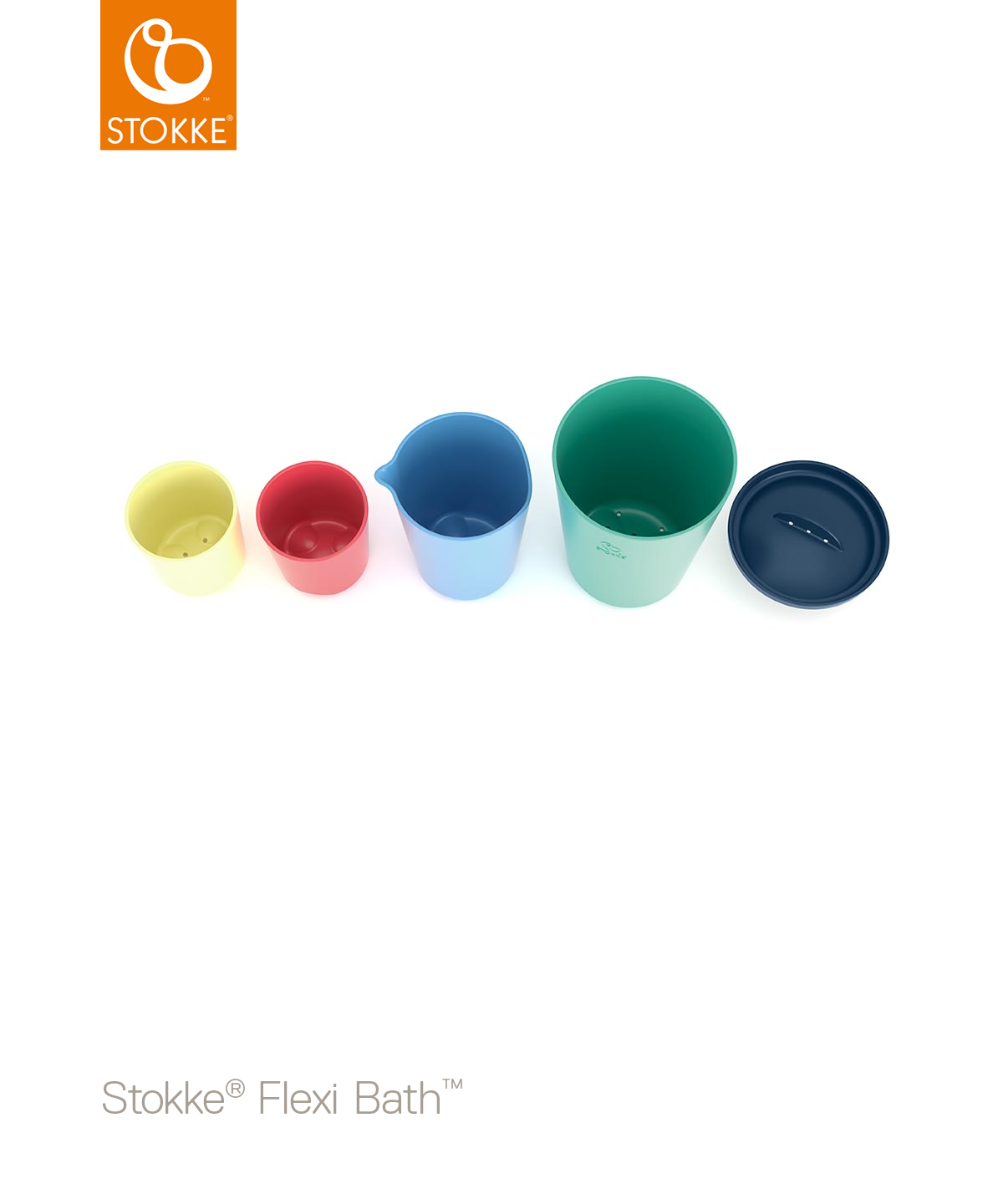 Stokke Flexi Bath разноцветные игрушечные стаканчики