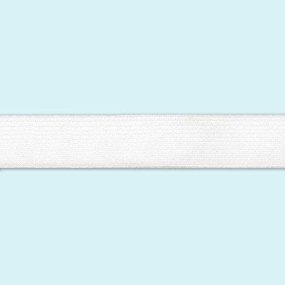 Лента эластичная, 1 м, цвет: белый