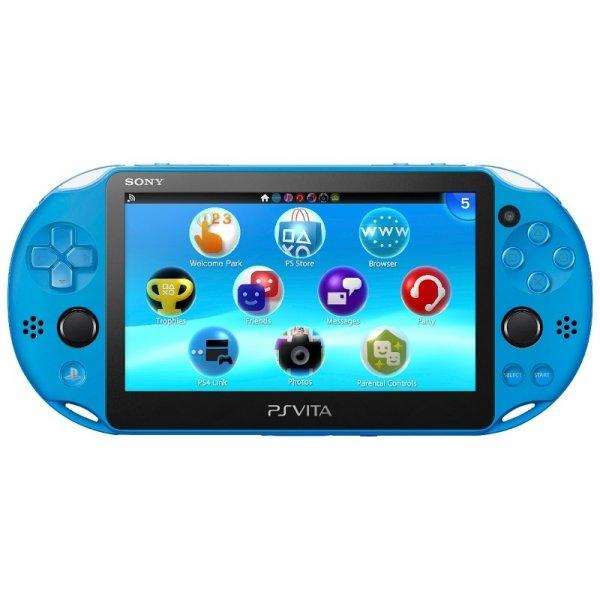 Игровая приставка Sony PlayStation Vita Slim 2000 Wi-Fi Aqua Blue