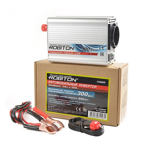 Инвертор 12V-220V ROBITON CN300W 300W