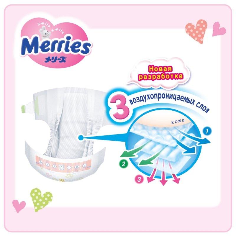 39af36347989 ... Подгузники MERRIES (Мерриес) для новорожденных NB (до 5 кг), ...