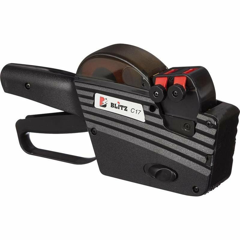 Этикет-пистолет Blitz C17 двухстрочный, прямоугольная лента, 10 символов в строке, 26x16 мм