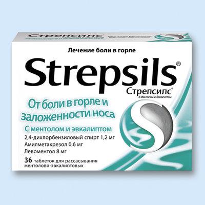 Стрепсилс® с ментолом и эвкалиптом