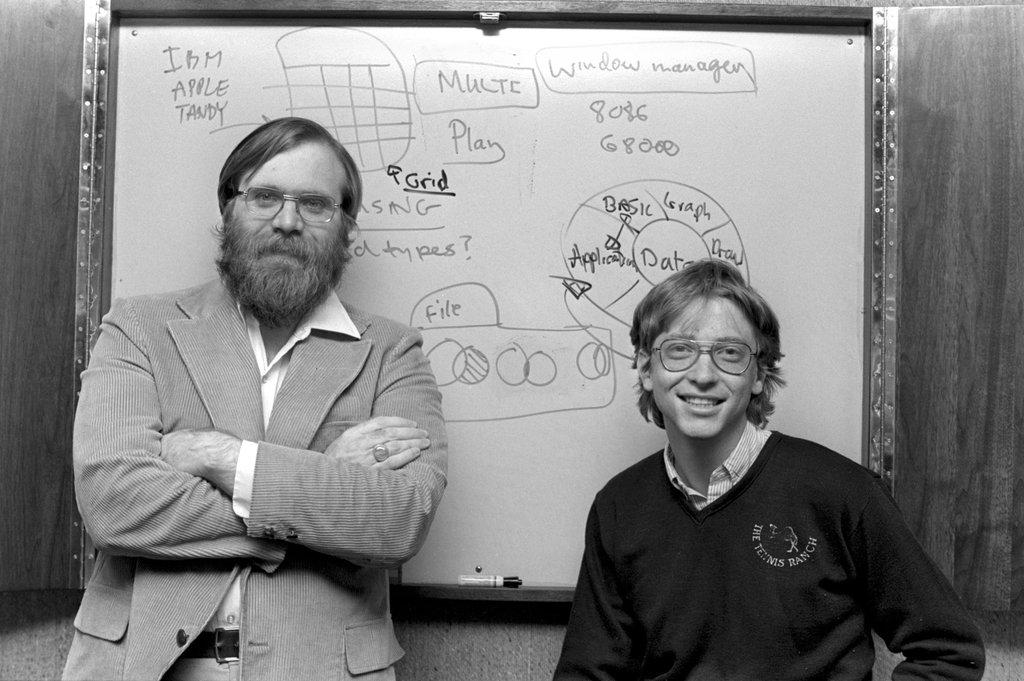 Билл Гейтс и Пол Аллен в 1982 году