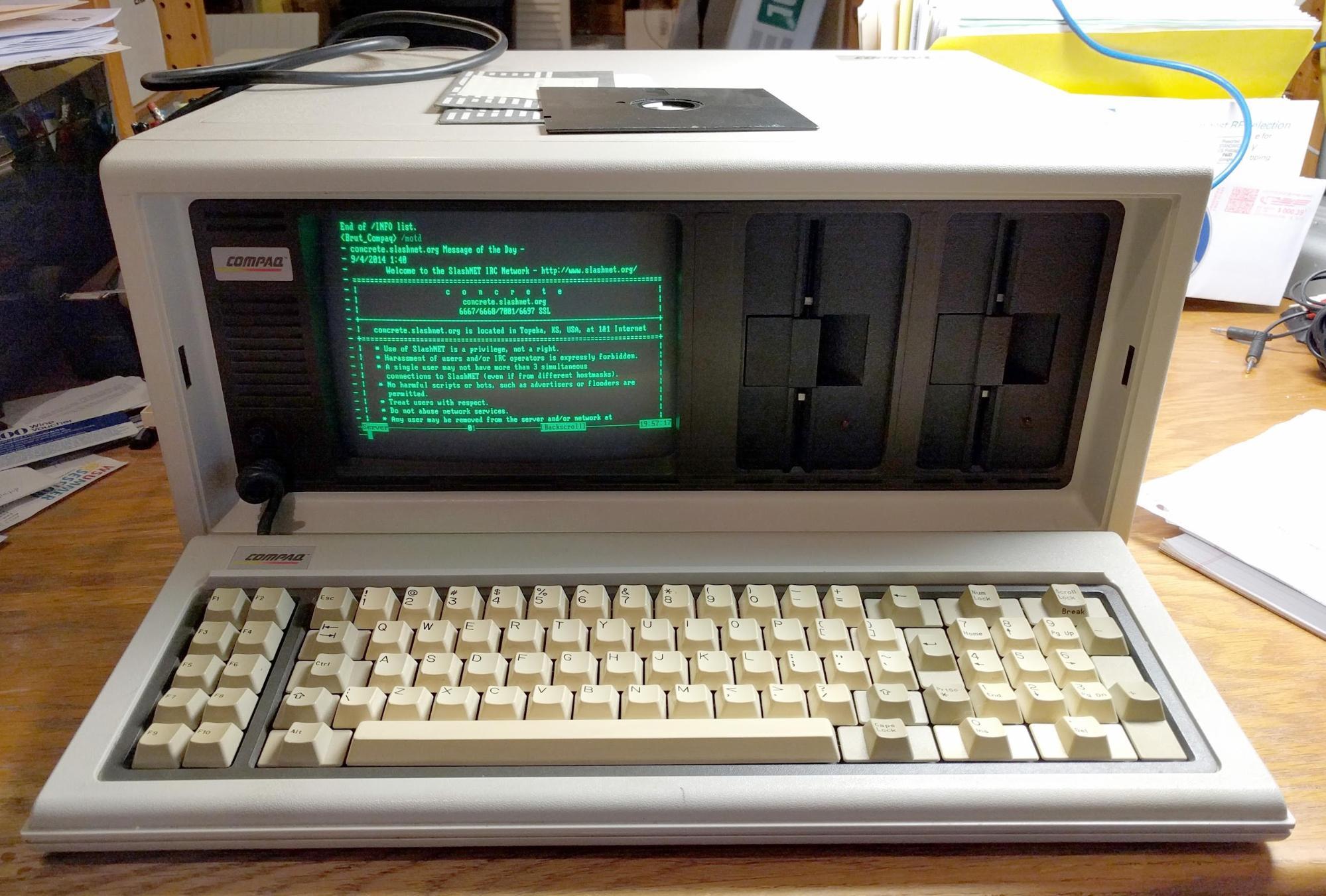 Портативный компьютер Compaq