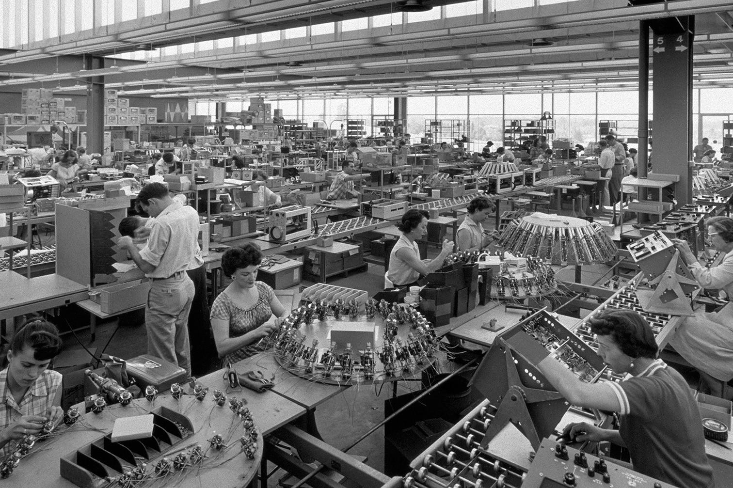 Производство Hewlett Packard в 1960-е