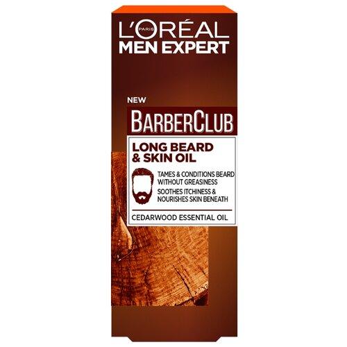 L\'Oreal Paris Масло для длинной бороды Barber Club с маслом кедрового дерева, 30 мл