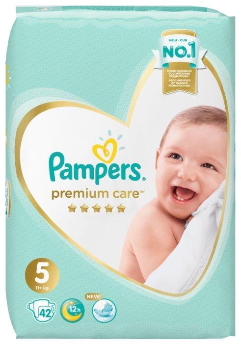 Pampers подгузники Premium Care 5 (11+ кг) 42 шт.