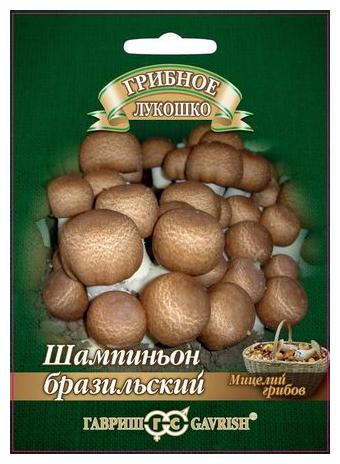 Мицелий грибов Гавриш Шампиньон Бразильский на зерновом субстрате 15 мл