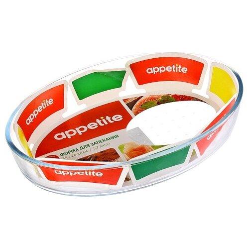Форма для запекания Appetite PL10, 3.2 л, 35х24х6 см форма для запекания 30х22х7 5см appetite прямоугольная синий yr2026g 12