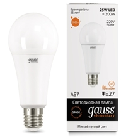 Лампа светодиодная gauss 73215 E27, A67, 25Вт, 2700К