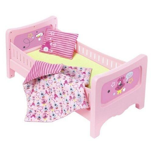 Фото - Zapf Creation Кровать для куклы Baby Born (824-399) розовый zapf creation baby born одежда джинсовая коллекция 824 498 джинсовый сарафан белая маечка