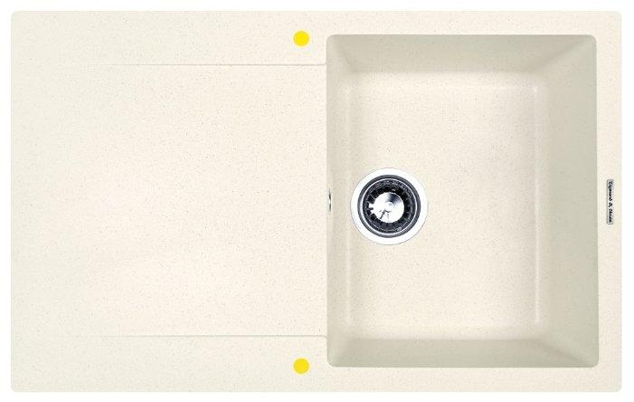Врезная кухонная мойка Zigmund & Shtain RECHTECK 775 77.5х49.5см искусственный гранит