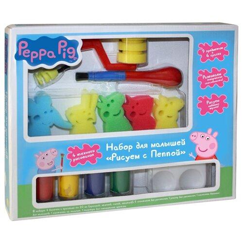 РОСМЭН Набор для малышей Peppa Pig Рисуем с Пеппой (31072), Наборы для рисования  - купить со скидкой