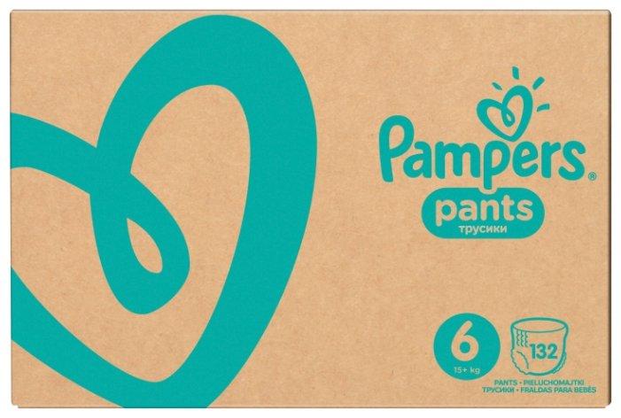 Pampers трусики Pants 6 (15+ кг) 132 шт.
