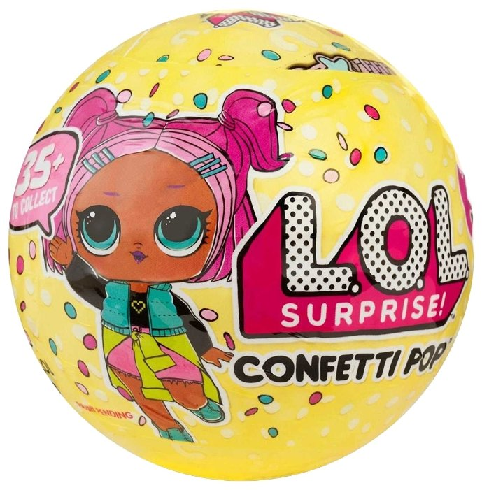 Кукла-сюрприз MGA Entertainment в шаре LOL Surprise 3 Confetti POP, 8 см, в ассортименте, 551515
