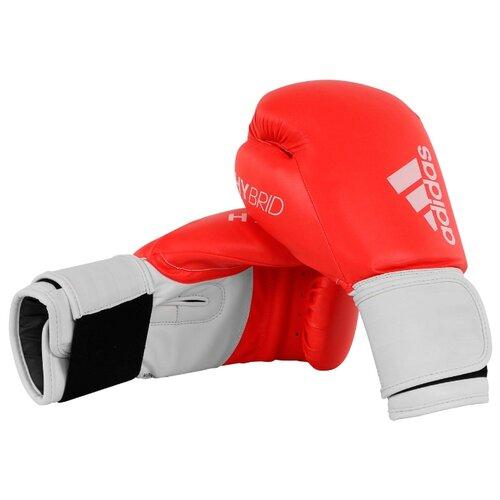 Боксерские перчатки adidas Hybrid 100 красный/белый 12 oz