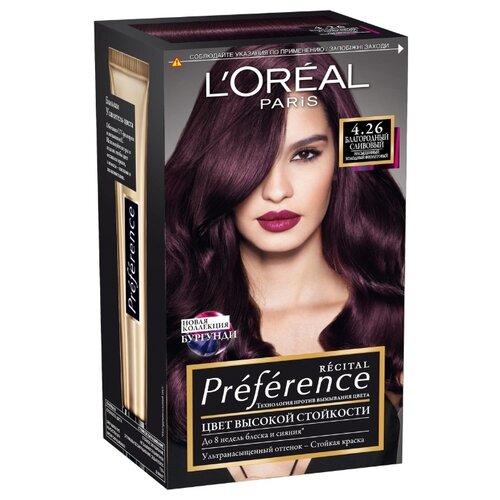 LOreal Paris Recital Preference стойкая краска для волос, 4.26, Благородный СливовыйКраска<br>