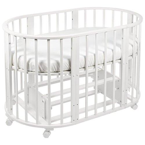 Купить Кроватка SWEET BABY Delizia 10 в 1 с маятником (трансформер) белый, Кроватки
