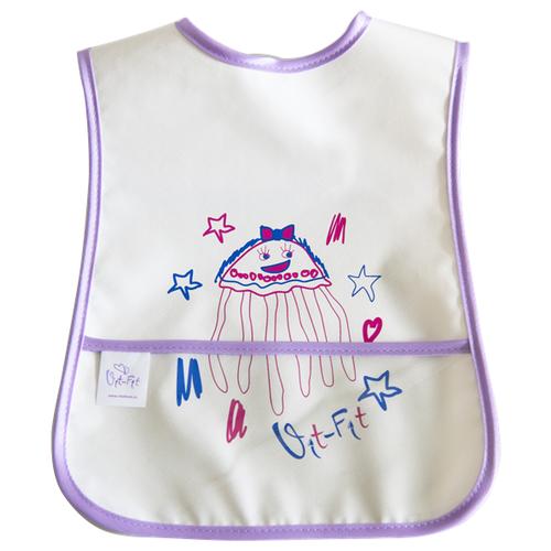 Vit-Fit Нагрудник Медуза/Птенчик/Свинюшка, медуза/белый/фиолетовый/розовый