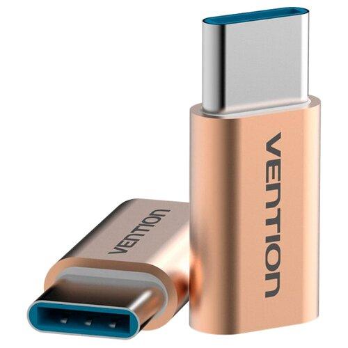 Купить Переходник Vention USB Type-C - microUSB (VAS-S10) золотой